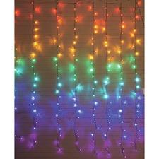 288 Multi-Coloured LED Curtain Lights