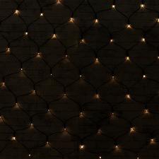 150 Warm White LED Solar Net Fairy Lights