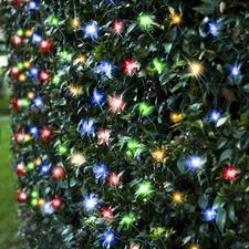 300 Multi-Coloured LED Solar Net Fairy Lights
