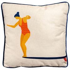Printed Take The Leap Cotton-Blend Cushion
