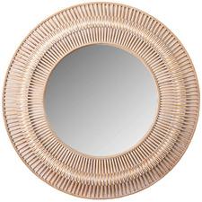Natural Silas Round Rattan Wall Mirror