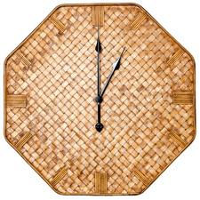 60cm Natural Lulu Octagonal Rattan Wall Clock