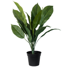 44cm Potted Faux Leafy Green Plant