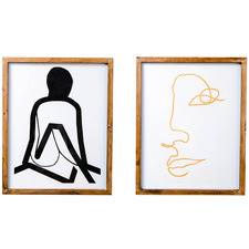 2 Piece Feminine Art Study I Framed Print Wall Art Set