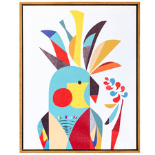 Artist Lab Cockatoo Framed Canvas Wall Art