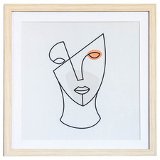 Line Face III Framed Print Wall Art