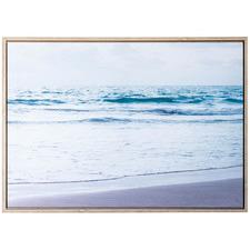 Coastal Beach Shore Tide Framed Canvas Wall Art
