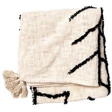 Natural & Black Kamu Cotton Throw