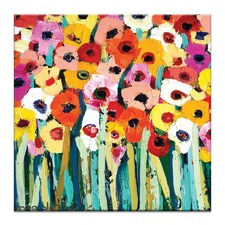 Rainbow Garden Canvas Wall Art