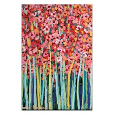 Pink Jonquils Stretched Canvas
