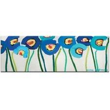 Blue Poppies 1 Canvas Wall Art by Anna Blatman