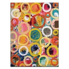 Circles 2 by Anna Blatman Art Print on Canvas