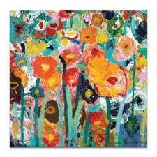 Palette Poppies Canvas Wall Art by Anna Blatman