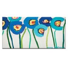 Blue Poppies 2 Canvas Wall Art by Anna Blatman