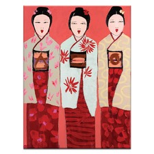 Three by Anna Blatman Art Print on Canvas