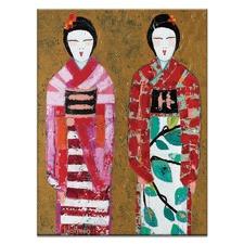 Spring Geisha 2 by Anna Blatman Art Print on Canvas