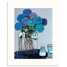 Daile's Hydrangeas Wall Art by Anna Blatman