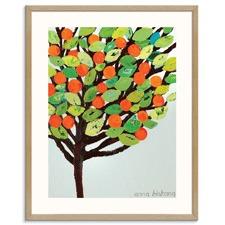 Yard Oranges Printed Wall Art