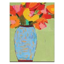 Anna Blatman Blue Jar Stretched Canvas