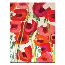 Anna Blatman Crazy Poppies Stretched Canvas