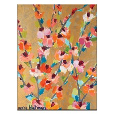 Anna Blatman Golden Blooms Stretched Canvas