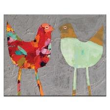 Anna Blatman Love Birds Stretched Canvas by Anna Blatman