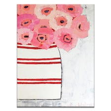 Anna Blatman Poppy Jar Stretched Canvas