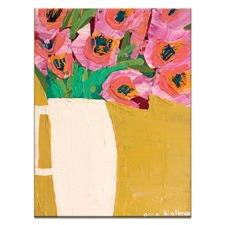 Anna Blatman White Jug Stretched Canvas