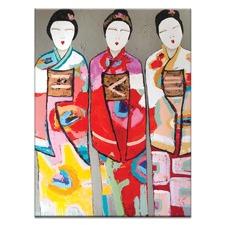 3 Geisha by Anna Blatman Wall Art