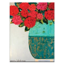 Red Geraniums Wall Art