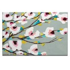 Chunky Magnolia Canvas Wall Art by Anna Blatman