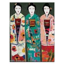 Spring Geisha by Anna Blatman Wall Art