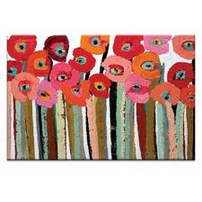 Brown Stemmed Poppies by Anna Blatman Wall Art