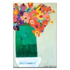 Green Vase Wall Art