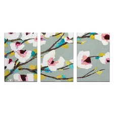 Anna Blatman Chunky Magnolia Triptych Art