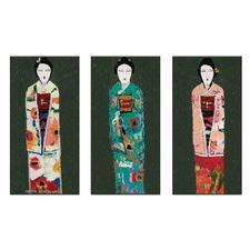 Anna Blatman Spring Geisha Triptych Art by Anna Blatman