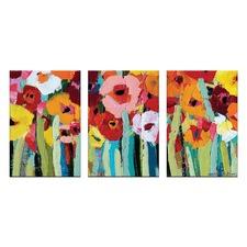 Anna Blatman Julies Blooms Triptych Art