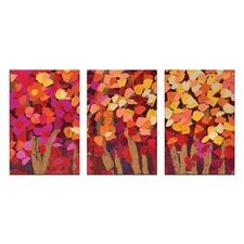 Anna Blatman Summer Blooms Triptych Art