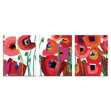 Bettys Blooms Triptych Wall Art