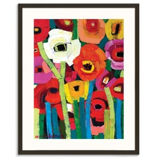 Annas Poppies Framed Wall Art by Anna Blatman