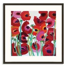 Mixed Poppy Framed Wall Art by Anna Blatman