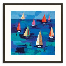 Adrians Regatta Framed Wall Art