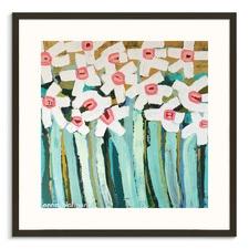 White Daisies Framed Wall Art
