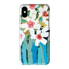 Blue Stems iPhone Case by Anna Blatman