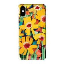 Jaya's Daisies iPhone Case by Anna Blatman