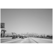 Downtown LA Expressway Printed Wall Art