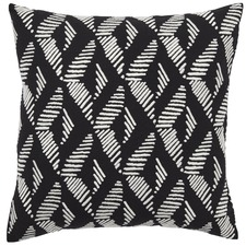 Black Lagos Cotton Cushion