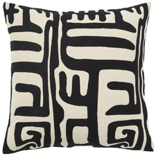 Black Lesotho Cotton Cushion