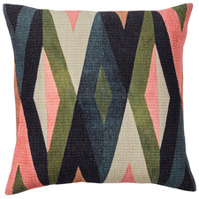 Multi-Coloured Ravi Velvet Cushion