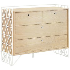 Light Timber Mod Dresser with Drawers